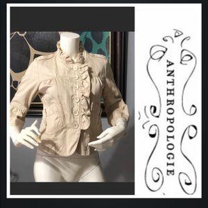 Anthropologie ETT:TWA Ruffle jacket